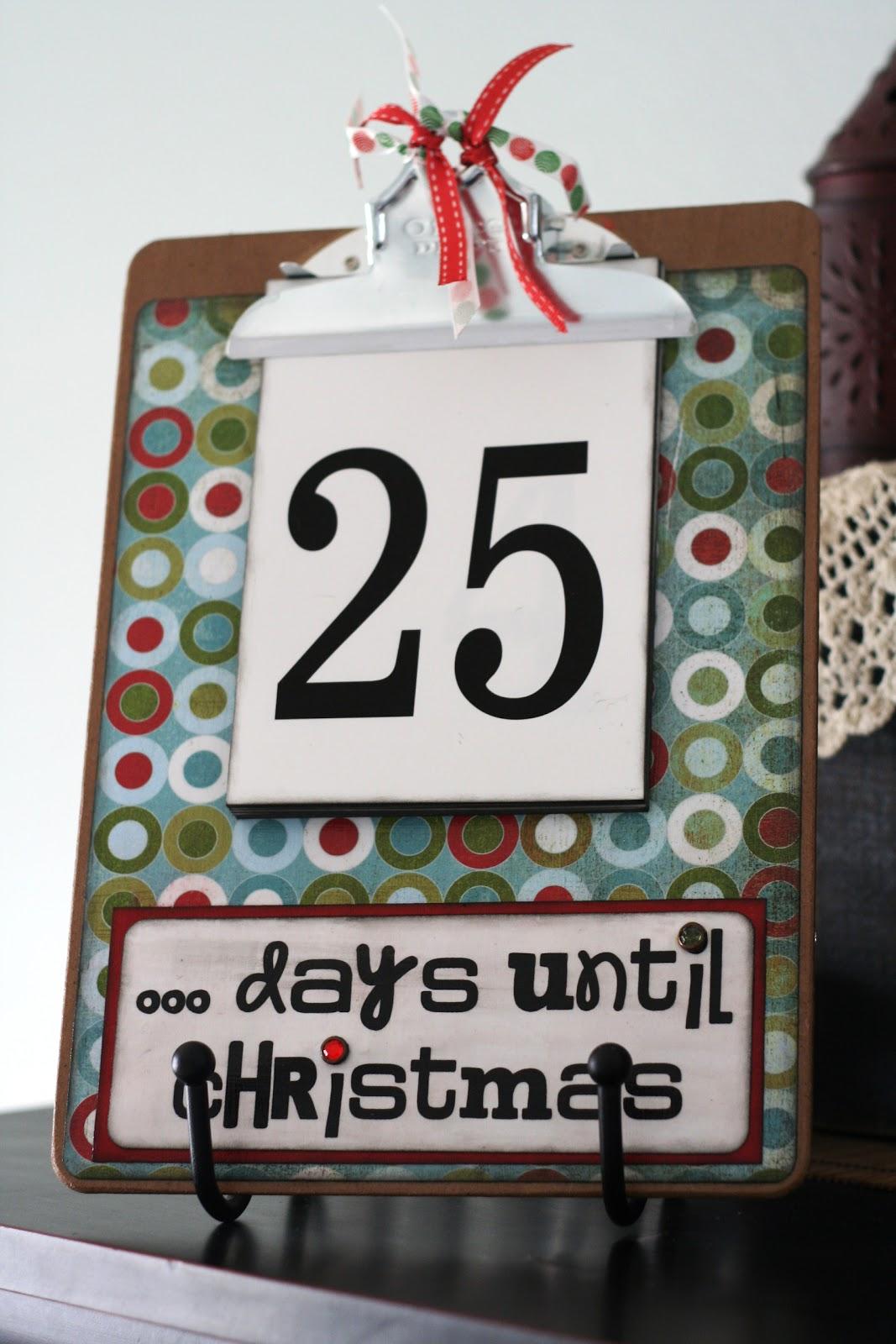 Christmas Advents} Countdown Clipboard - Eighteen25