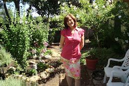 The Artist in her garden