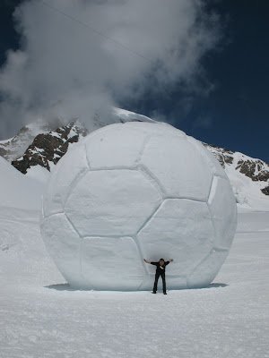 The Beautiful Game: Holy giant snowball! Rolling Soccer Ball