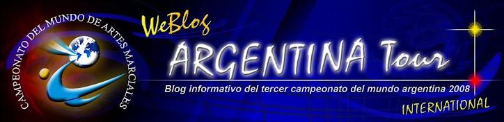 """Blog con informacion del III Campeonato del mundo de artes marciales """"Argentina 2008"""""""