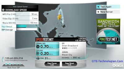 Smartbro Speedtest