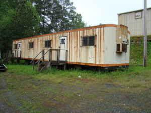vintage microwave modular mobile office trailer