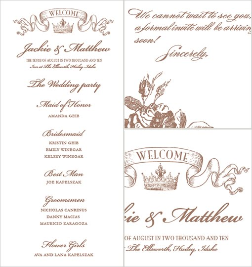 download this gorgeous Crown Invitation You can also see the Wedding