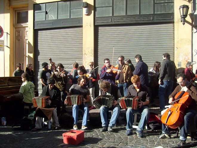 Tango Orchestra on the street