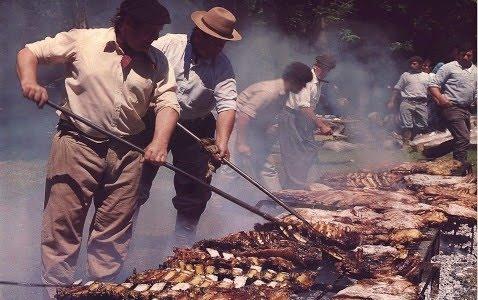 Gauchos preparing Asado...yummmmmy