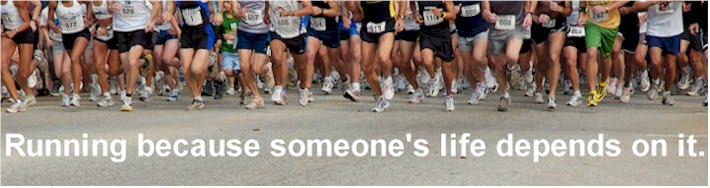 Running because someone's life depends on it.