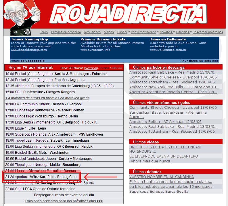 Image Result For En Vivo Vs En Vivo Vivo Tarjeta Roja A