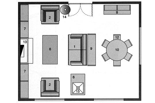 Medidas De Uma Sala De Estar ~ Sala de estar + Sala de Jantar Sofá com aparador nas costas que