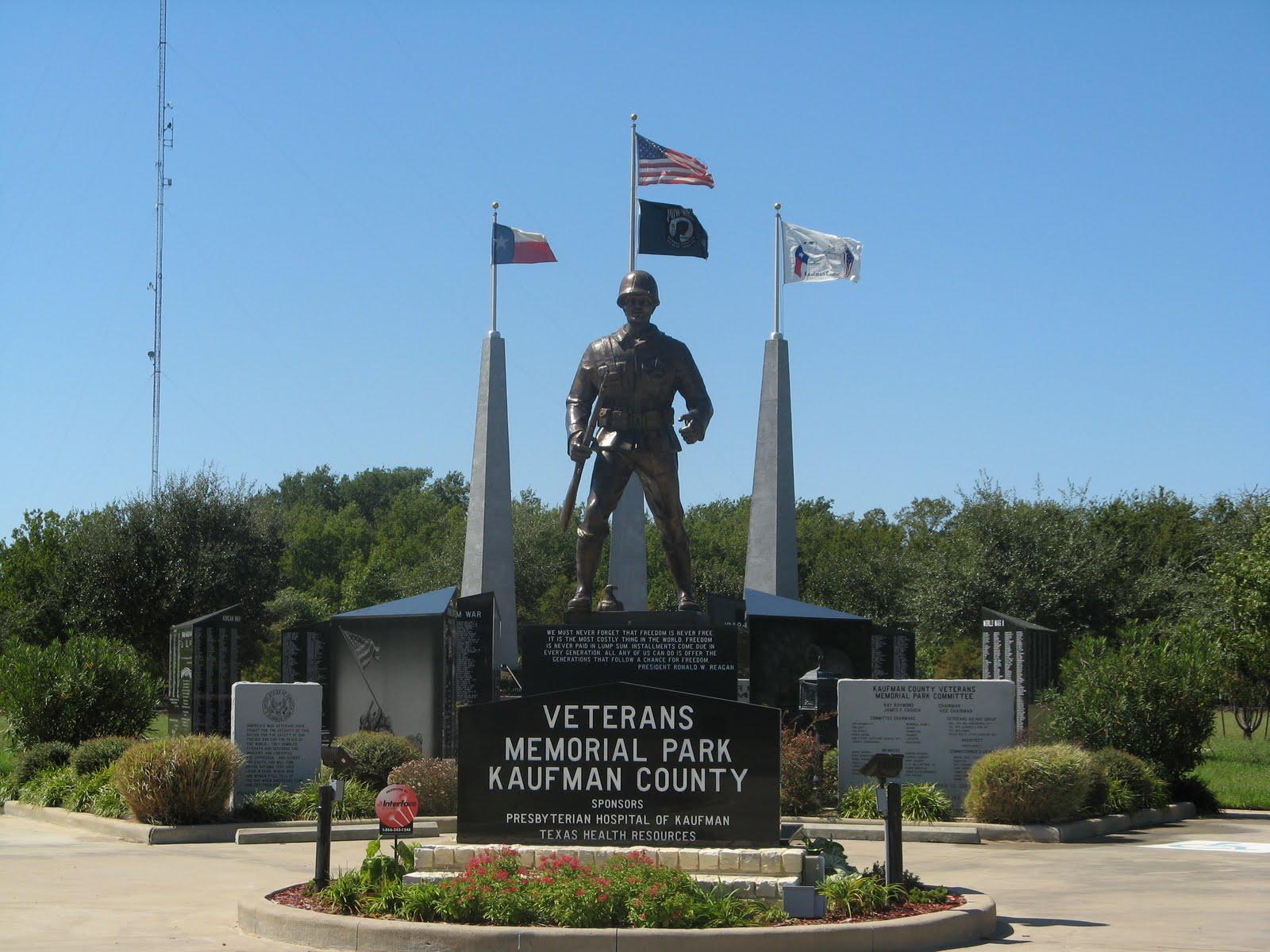 War memorial commemoration travel blog texas my home state - Valley memorial gardens mission tx ...