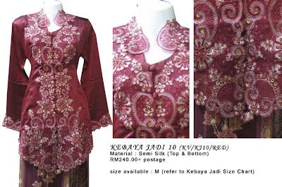 Size M: RM240 + P&P - KJ10 Kebaya Jadi Red