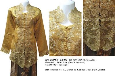 Size XL RM240 + P&P - Kebaya Jadi Gold
