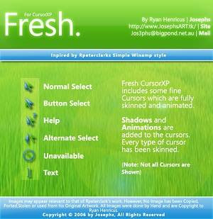 Fresh Cursors Optimized 21 Cusor pack Untuk Windows Xp dan Windows 7