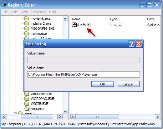 registry Cara cepat membuka program pada Windows XP