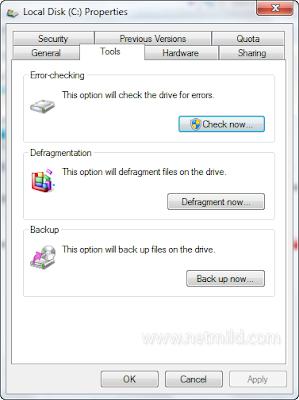 C select Cara mudah periksa kesehatan Hard Disk Di Windows 7