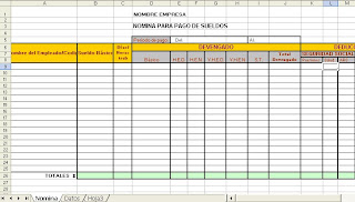 Rinc n contable difercigo formato de nomina for Nomina en blanco para rellenar