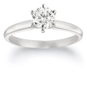 Platinum Diamond Engagement Ring 3/4 ct G-H Color VS2 Clarity