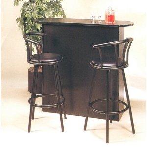 Retro Style Black Bar Pub Table