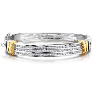 Alternating Stone-14 Karat White Gold 3.06 carats Diamond