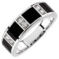 Diamond Men's Wedding Band Ring
