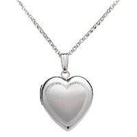 Sterling Silver Satin Finish Heart Locket