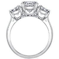 Classic Round Three Stone Diamond Ring