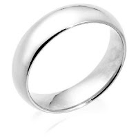 White Gold 6mm Comfort Fit Wedding Band Ring
