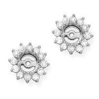 White Gold 1 ct. Diamond Earring Jackets