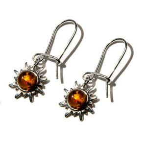 Sterling Silver Very Small Flaming Sun Earrings