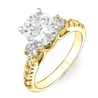 1.26 Carat round cut diamond engagement ring