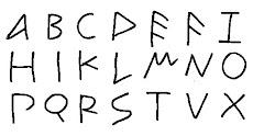 Das portugiesische Alphabet