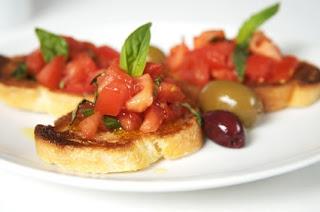 Reena Moza's Kitchen: Double Tomato Bruschetta