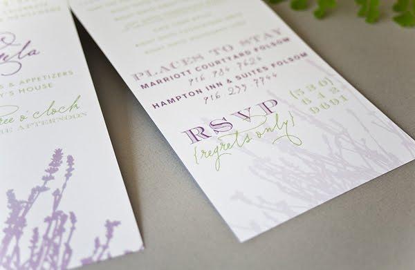 napa inspired wedding reception invitation