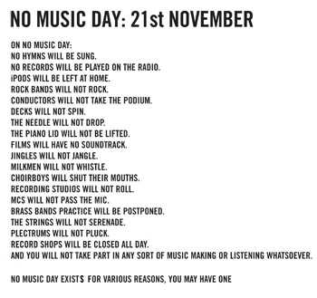 No Music Day, part III