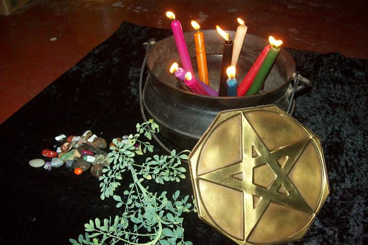 Magia do pentagrama, pedras,ervas e velas agora tudo junto