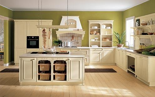 Imbiancare cucina: colori giallo e verde