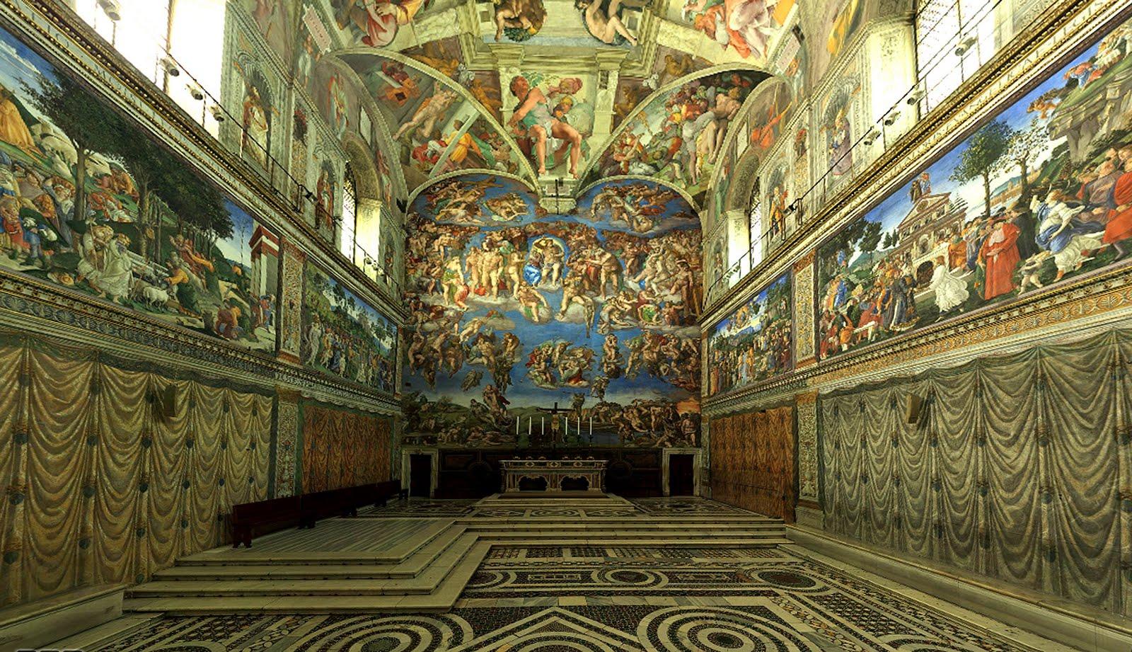 Les louettes chapelle sixtine en 360 degr for Exterieur chapelle sixtine