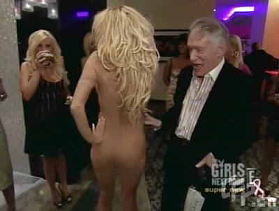 Pamela Anderson Naked Treat for Playboy Boss Hugh Hefner