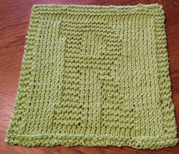 Knitted Alphabet Dishcloth Patterns : Barbaras Hooks, Eyes and Needles: Alphabet Dishcloths