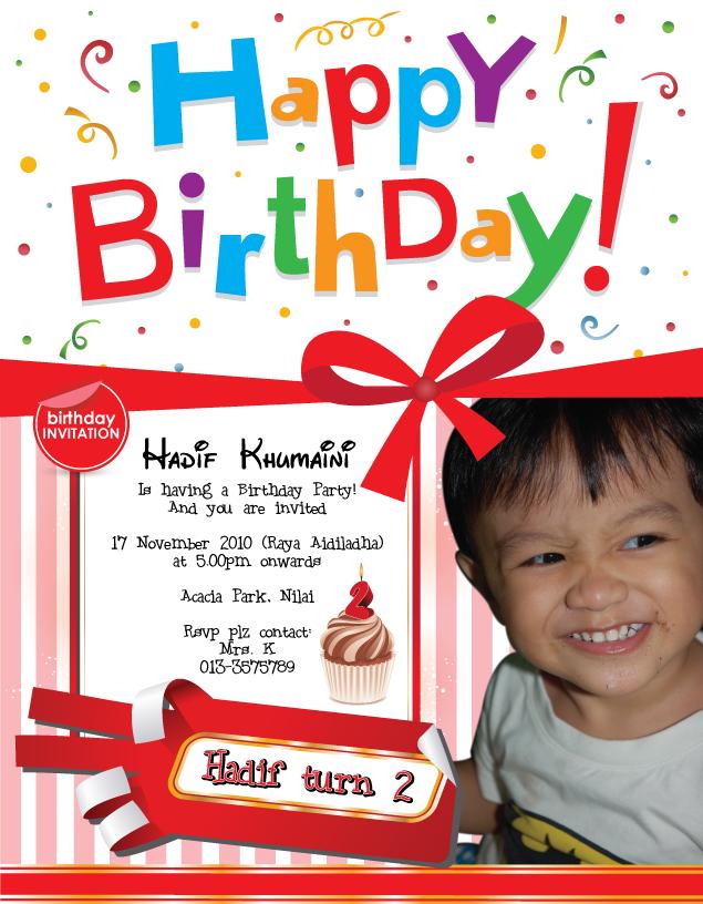 Hadif Invitation Card Birthday