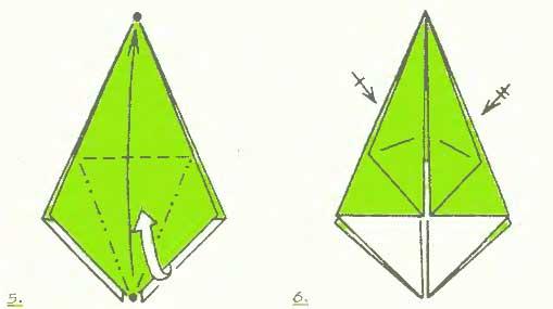 ваза из бумаги оригами схема