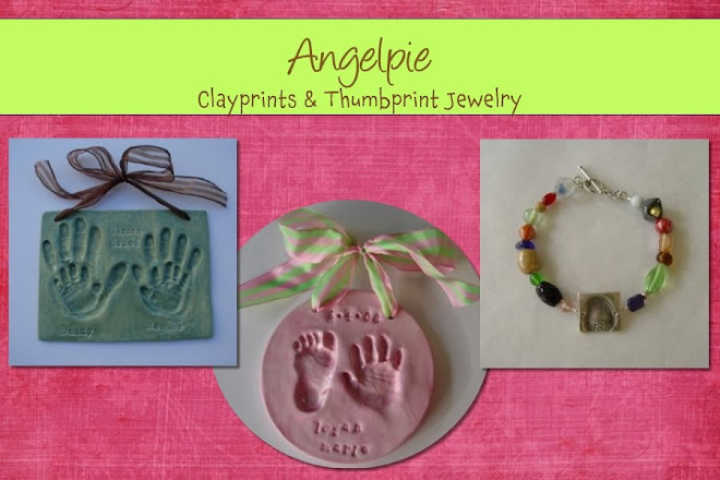 Angelpie clayprints and thumbprint jewelry