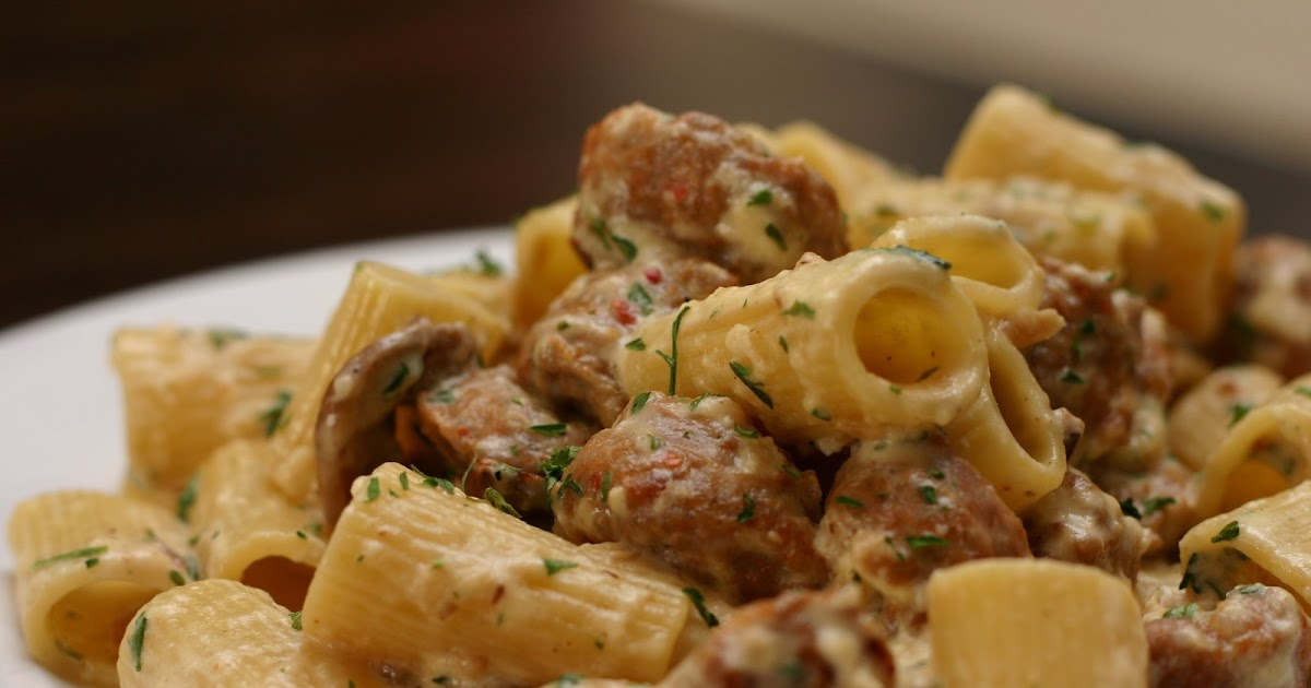 America's Little Germany: Rigatoni with Sausage and Parmigiano
