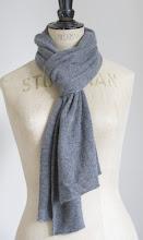 Eilis Boyle grey Cashmere scarf