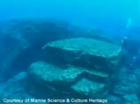 Reruntuhan bawah laut Jepang