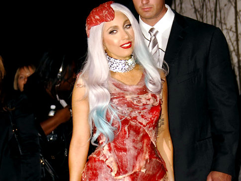 Gutsy: Lady Gaga wore a 'raw meat' outfit to the MTV Video Music Awards,