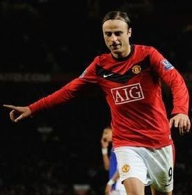 berbatov man united wallpaper, berbatov celebrates, dimitar berbatov wallpaper