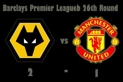 resuts Wolverhampton Wanderers vs Man utd barclays
