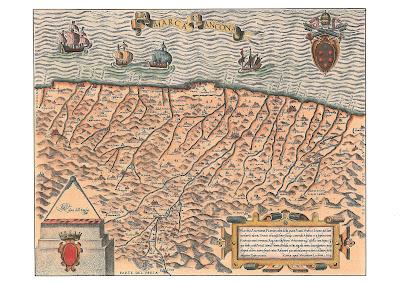 ostra,marca d'ancona,mappa,1564
