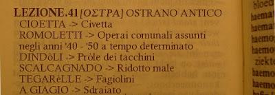 OSTRANO ANTICO, dialetto, lez.41