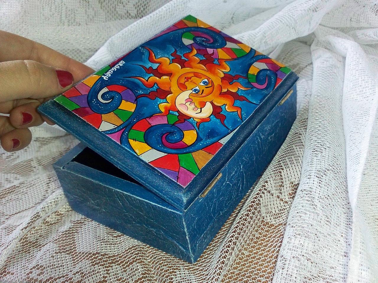 Yanibela dedales y m s uruguay caja de madera con - Dibujos para decorar cajas de madera ...